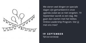 Vier met ons mee - Velites blog over implementatie, interactie & leiderschap